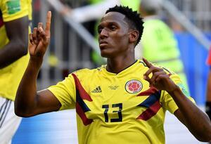 Yerry MIna en el juego entre Colombia y Senegal en Rusia 2018