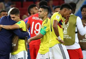 Colombia fue eliminada en los octavos de final ante Inglaterra