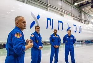 astronautas space x, misión privada