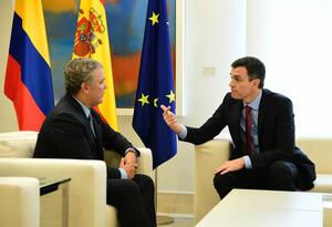 Iván Duque y Pedro Sánchez, jefe gobierno de España