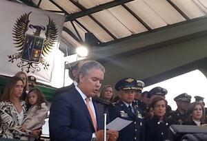 Ceremonia reconocimiento de tropas por parte del presidente Duque