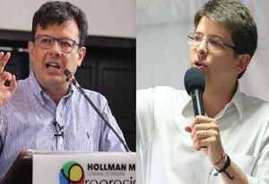 Hollman Morris y Miguel Uribe, con duros enfrentamientos.