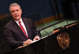 Iván Duque en Naciones Unidas, en Nueva York.