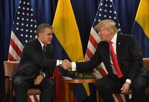 Presidentes Iván Duque y Donald Trump