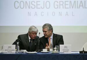 Jorge Humberto Botero,presidente del Consejo Gremial Nacional y el presidente de la República, Iván Duque.