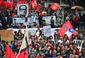 Marcha homenaje Salvador Allende