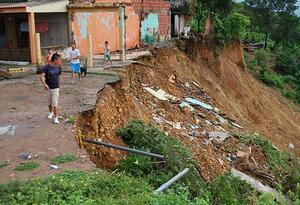 Casas destruidas en Cúcuta