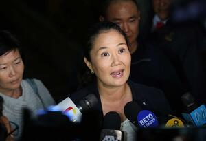 Keiko Fujimori, sindicada por lavado de activos.