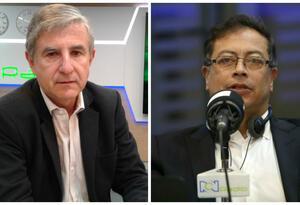 Luis Gonzalo Morales y Gustavo Petro