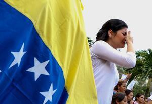 Migrante venezolana en Cúcuta, en la frontera con Colombia