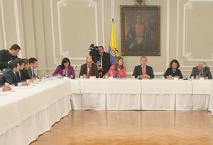 Presidente Iván Duque en reunión Casa de Nariño