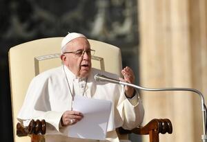 Papa Francisco en audiencia en la Plaza de San Pedro