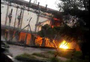Incendio en subestación de energía de Medellín