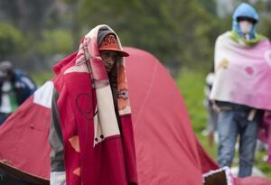 Migrantes venezolanos en Bogotá