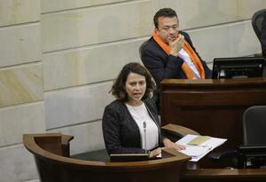 La ministra del Interior, Nancy Patricia Gutiérrez