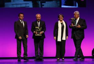 Yolanda Ruiz y Fernando Molina en los premios Ondas 2018