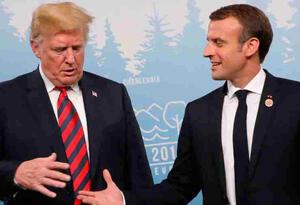 Donald Trump y Emmanuel Macron.