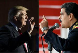 Presidente Donald Trump y Nicolás Maduro