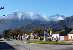 Panorámica de Vicuña, en Chile