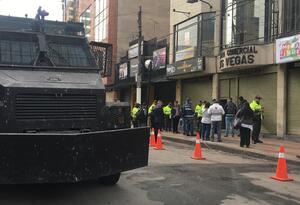 Sector de San Andresito, en Bogotá, fue tomado por la Policía