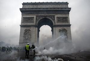 Protesta de chalecos amarillos en Francia