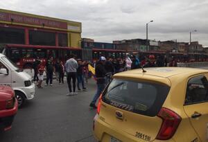 Protestas en Corabastos
