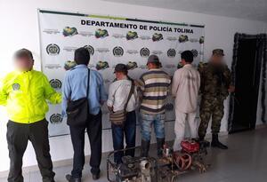 Los hombres capturados quedaron a disposición de la Fiscalía General de la Nación.