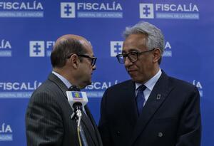 Carlos Eduardo Valdés durante una rueda de prensa