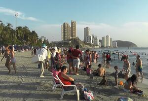 Masiva llegada de visitantes a Santa Marta en temporada alta