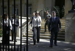 Juan Manuel Santos y la ex primera dama Maria Clemencia 'Tutina' Rodriguez de Santos.