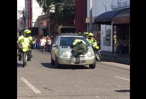 Policía es atropellado por una mujer en Cúcuta