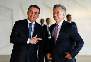 Los presidentes de Brasil y Argentina, Jair Bolsonaro y Mauricio Macri.