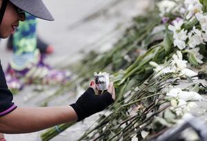 Homenaje a víctimas del atentado terrorista en la General Santander.