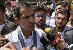 Juan Guaidó, presidente interino de Venezuela, en Caracas