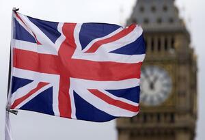 Bandera Inglaterra reloj Big Ben