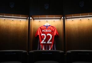 La camiseta de Álvaro Morata en el Atlético de Madrid