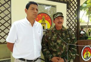 General Nicacio Martínez, Comandante del Ejército y Luis Fernando Niño, Gobernador encargado de Norte de Santander