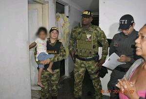 Rescatan a menor venezolana