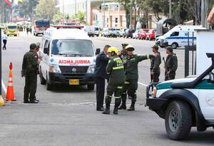 La Escuela General Santander luego del carro bomba