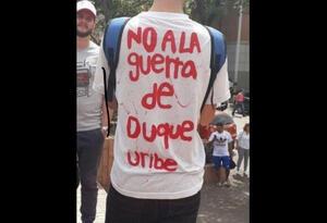 Manifestación en Medellín