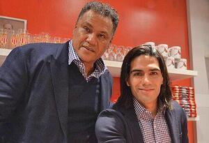 Falcao junto a su padre, Radamel García King