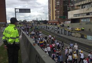 Marcha contra el terrorismo en Bogotá