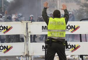 Disturbios en la frontera entre Colombia y Venezuela, en Norte de Santander