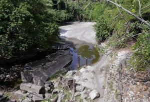 Vista del río Yeguas, afluente del río Magdalena, en Honda, departamento de Tolima.