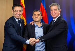 Ernesto Valverde, renovado como DT del FC Barcelona