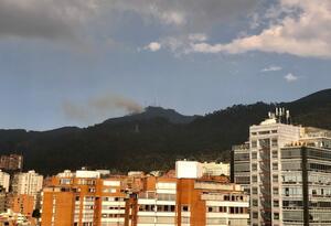 Incendio en los cerros orientales