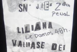 Panfleto amenazante a una juez de Bello, Antioquia.