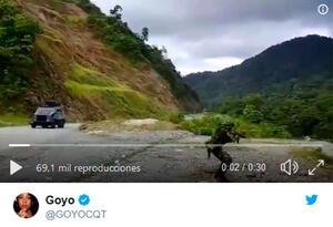 Imagen del video publicado por Goyo, cantante de Chocquibtown