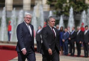 El presidente de Alemania fue recibido con honores en la Casa de Nariño.