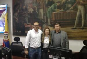 Manuel Sarmiento, Patricia Mosquera y Álvaro Acevedo